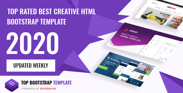 Top Rated Best Creative HTML/Bootstrap Template 2020 - Updated Weekly