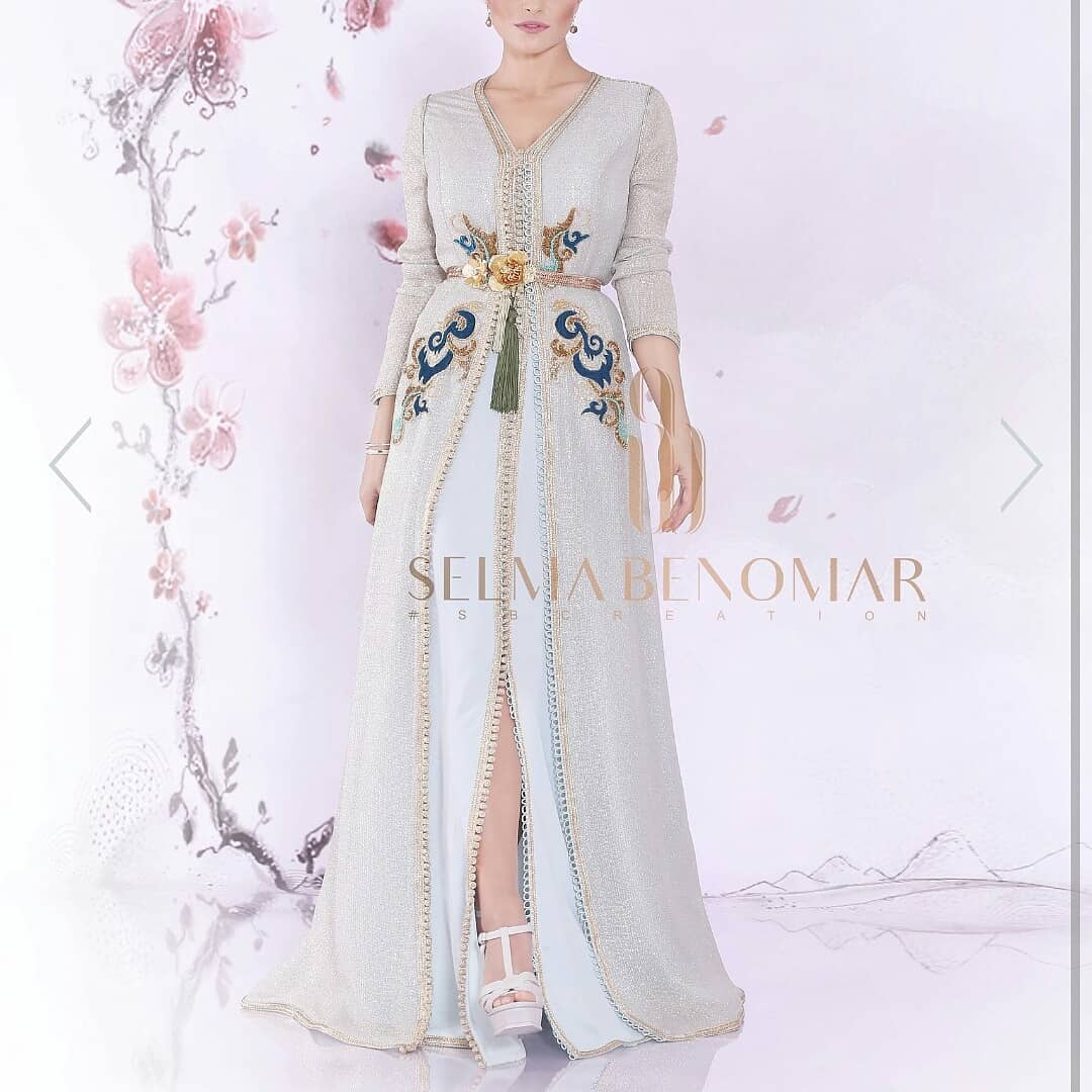 top 12 des caftans modernes mode 2019 hijab fashion and chic style. Black Bedroom Furniture Sets. Home Design Ideas