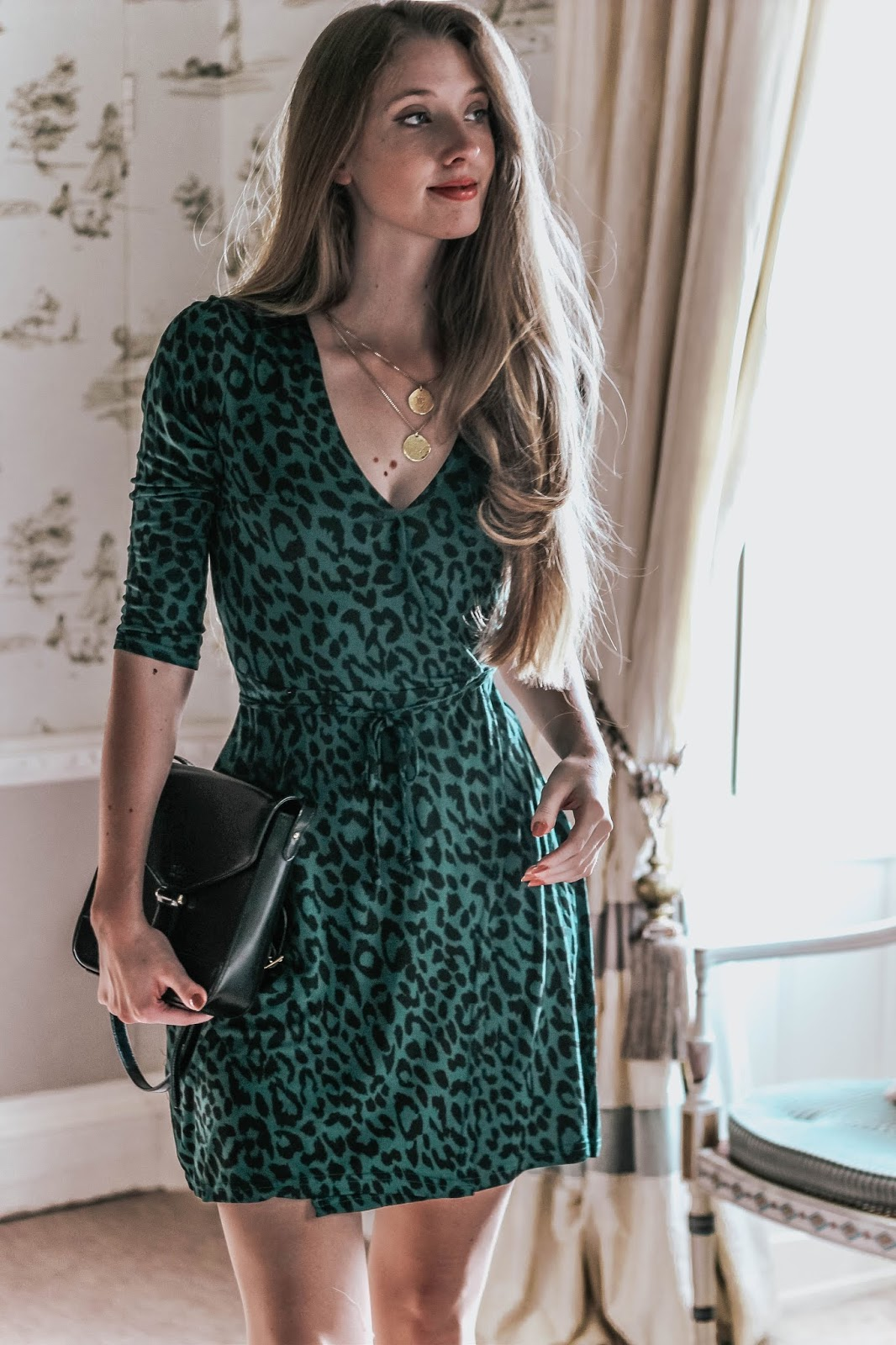 TKMaxx Innocence Green Leopard Print Dress