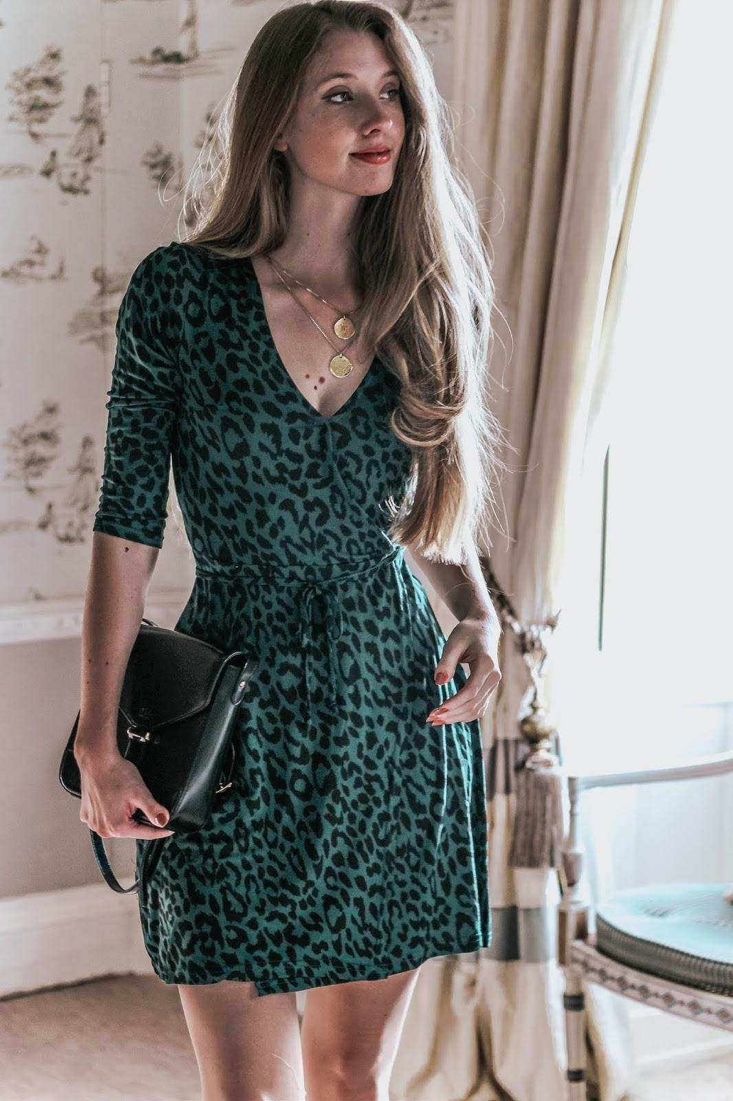 TKMaxx Innocence Green Leopard Print Dress