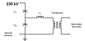 Capacitive Voltage Transformers Cvt on line diagram mcc