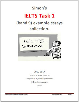 Simon's IELTS Task 1 (Band 9) Example Essays Collection 2010-2017