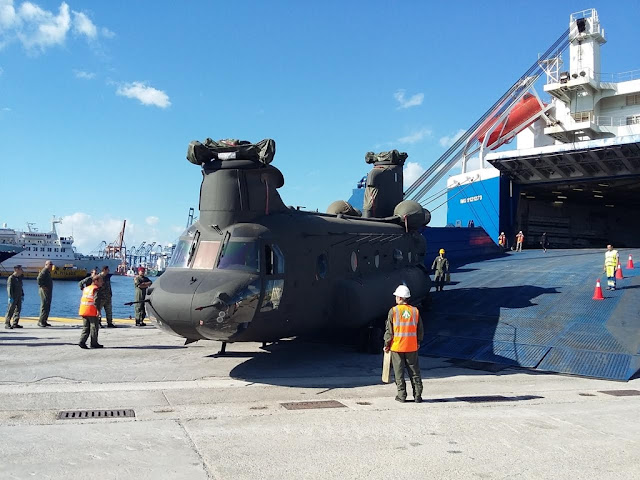 GREECE RECEIVES FIRST CH-47 CHINOOK HELICOPTER