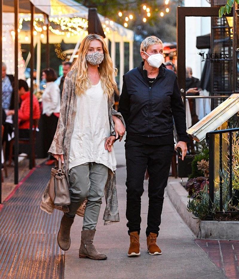 Portia de Rossi, Ellen DeGeneres Out for Dinner in Montecito 11 Apr-2021
