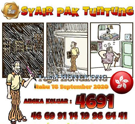 Syair Pak Tuntung HK Rabu 16 September 2020
