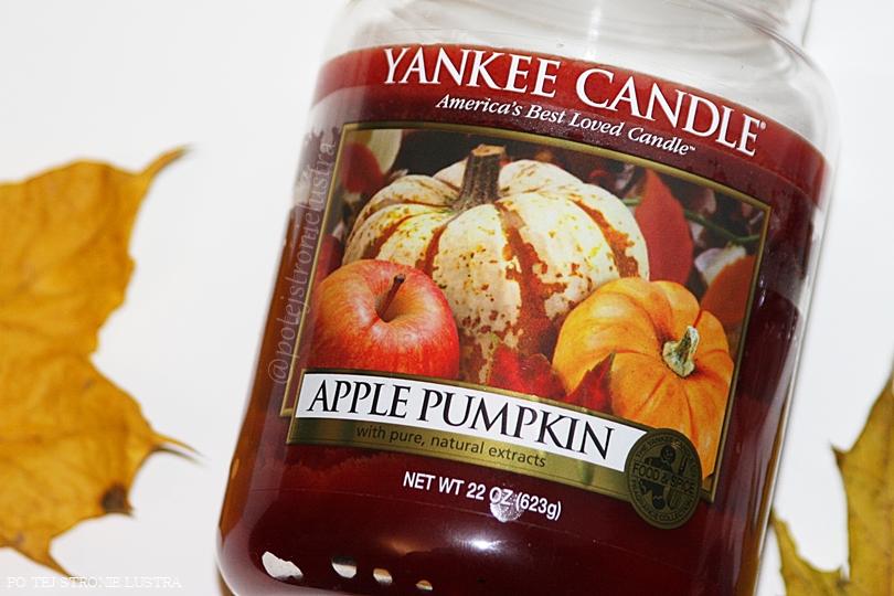 duża świeca zapachowa yankee candle pumpkin apple usa