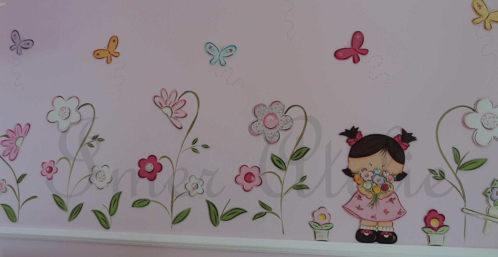 Imer Atelie decoração parede quarto menina