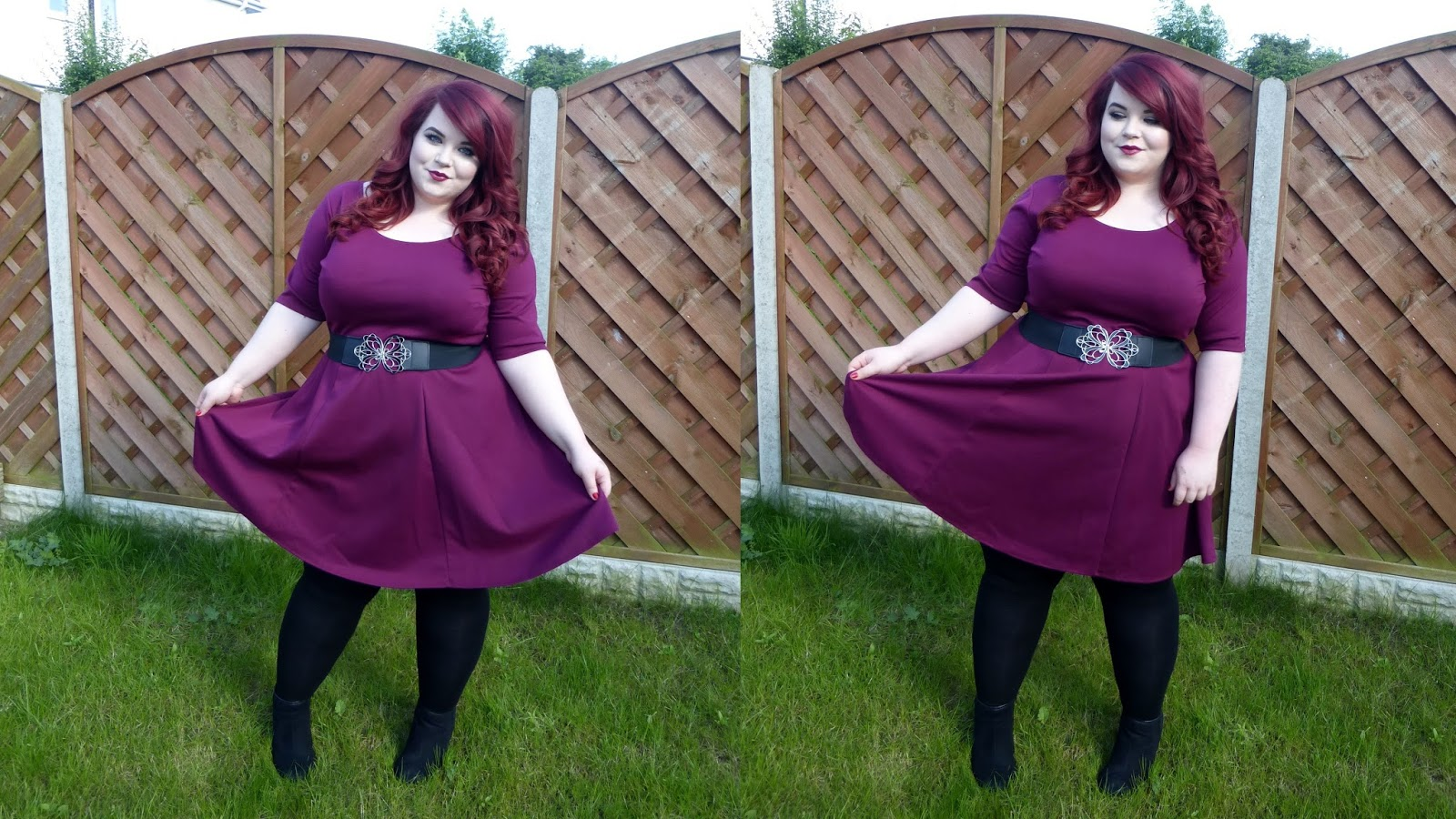 039a96546a5 Boohoo Plus Skater Dress - She Might Be Loved