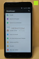 "Einstellungen System: HOMTOM HT30 3G Smartphone 5.5""Android 6.0 MT6580 Quad Core 1.3GHz Mobile Phone 1GB RAM 8GB ROM Smart Gestures Wake Gestures Dual SIM OTA GPS WIFI,Weiß"