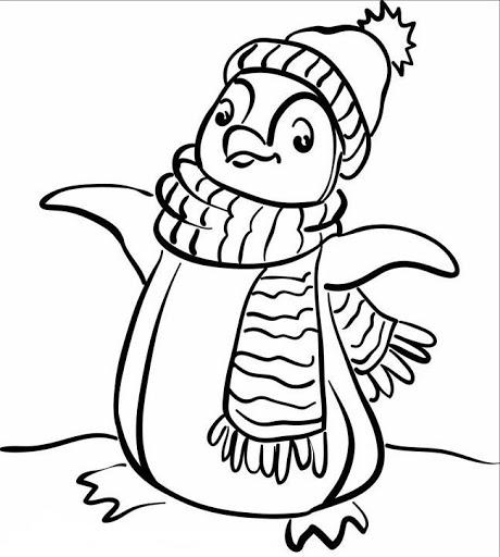gambar pinguin untuk mewarnai