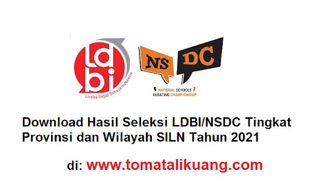 hasil seleksi ldbi nsdc tingkat provinsi dan wilayah siln tahun 2021 tomatalikuang.com