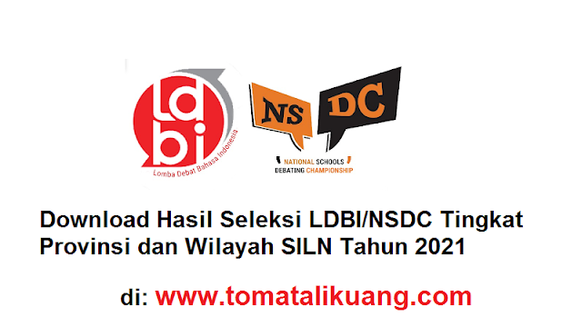 Download Hasil Seleksi LDBI - NSDC SMA/MA Provinsi & Wilayah SILN 2021 PDF