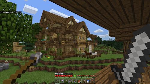 """Minecraft mang cả vào chế độ sống sót, rất """"hợp mốt"""""""