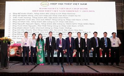 Ban chấp hành Hiệp hội Thép Việt Nam nhiệm kỳ V, giai đoạn 2019-2023 gồm 13 người, ra mắt trước Đại hội