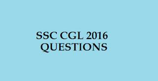 SSC CLG 2016 - 9 September questions 3rd shift