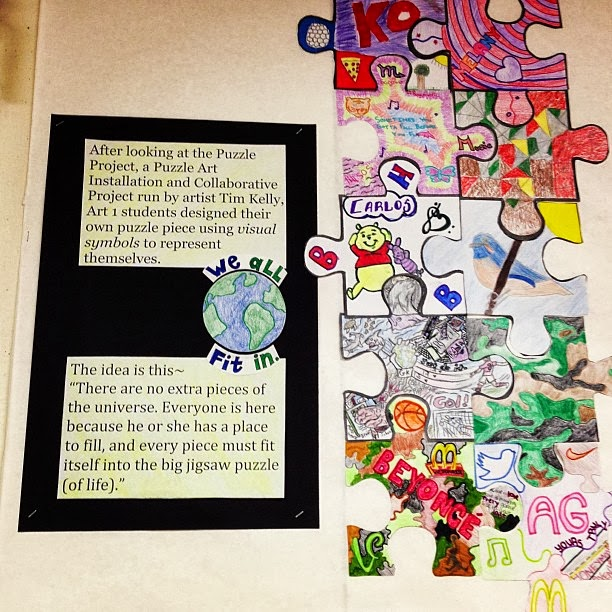 Ms. Charnuska's Art Class: Puzzle Art Installation Project