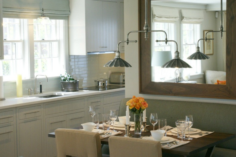 Breakfast nook of Kitchen is cottage chic