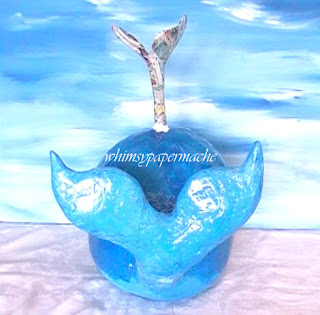 How to Make a Big Blue Paper Mache Whale