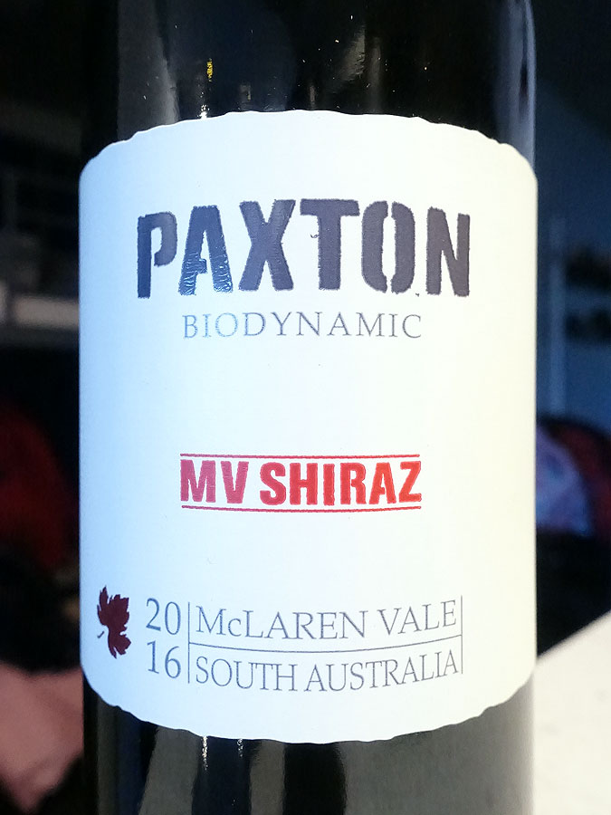 Paxton MV Shiraz 2016 (90+ pts)