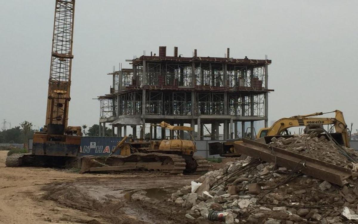 Tiến độ xây dựng chung cư ICID Complex vô cùng khẩn trương và nhanh chóng