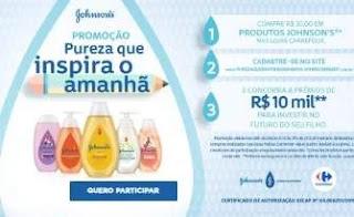 Cadastrar Promoção Johnson's 10 Mil Reais Pureza Inspira Amanhã - Investir Futuro Filho
