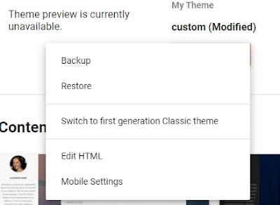 Change and Customize the Blogger theme