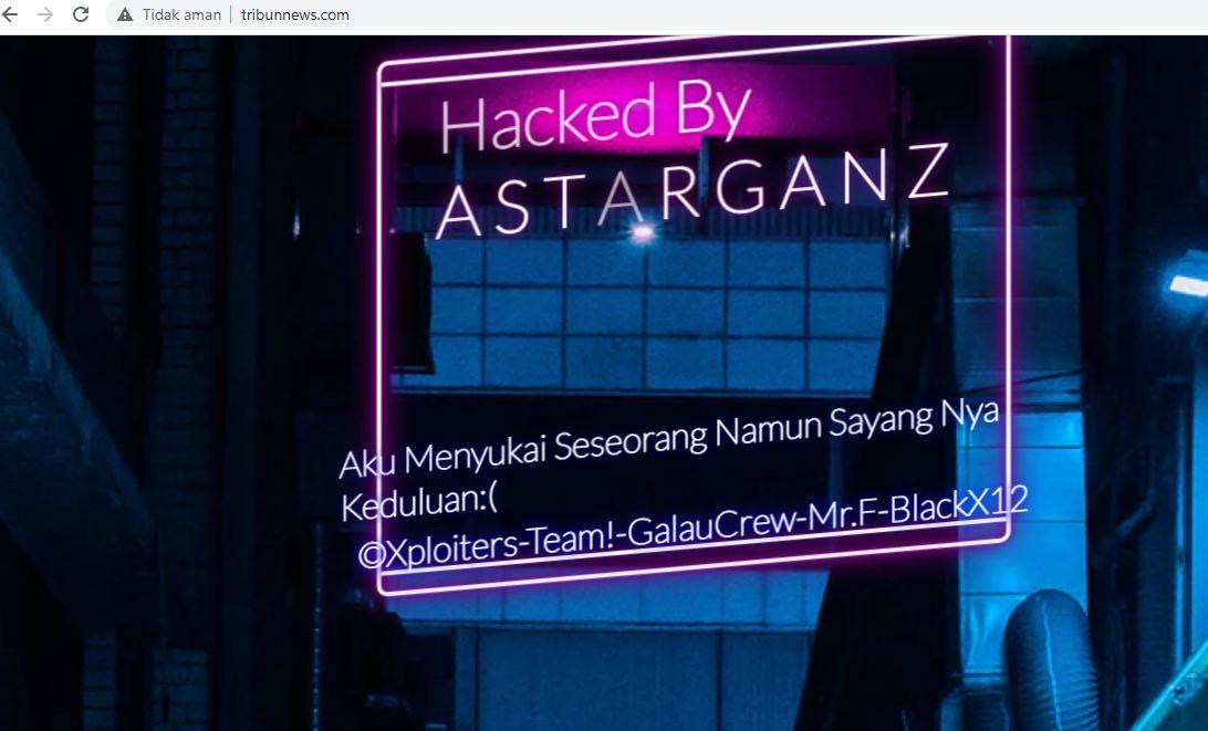 tribunnews di hack