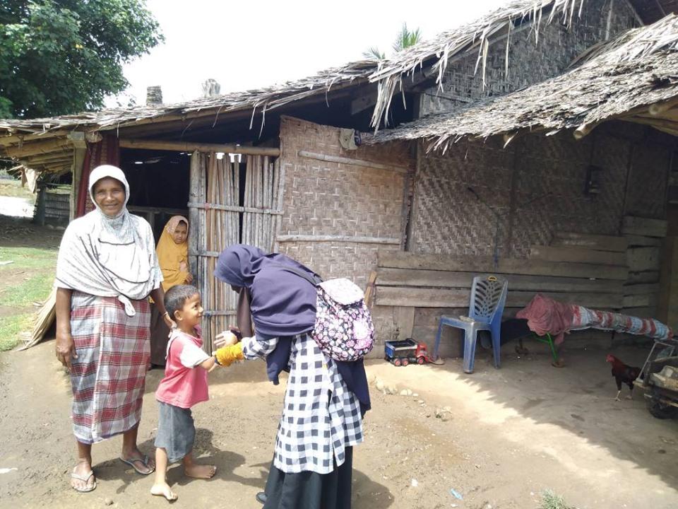 LPD Aceh Utara, Kembali Kunjungi Ibu Syarifah yang Merawat 5 cucunya, setelah ibu mereka meninggal