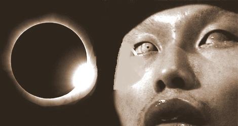 orang buta karena gerhana matahari