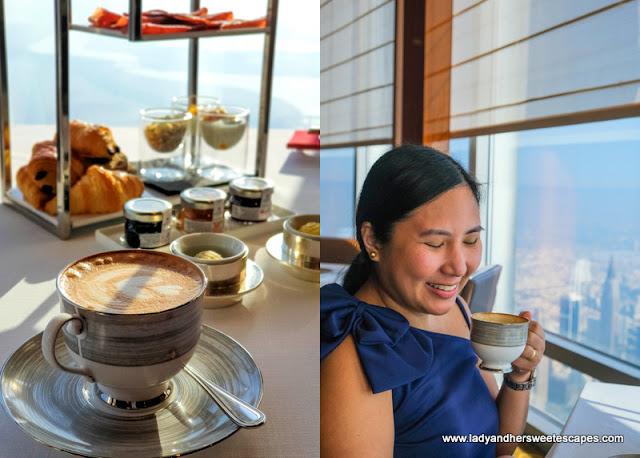 coffee in Atmosphere Burj Khalifa