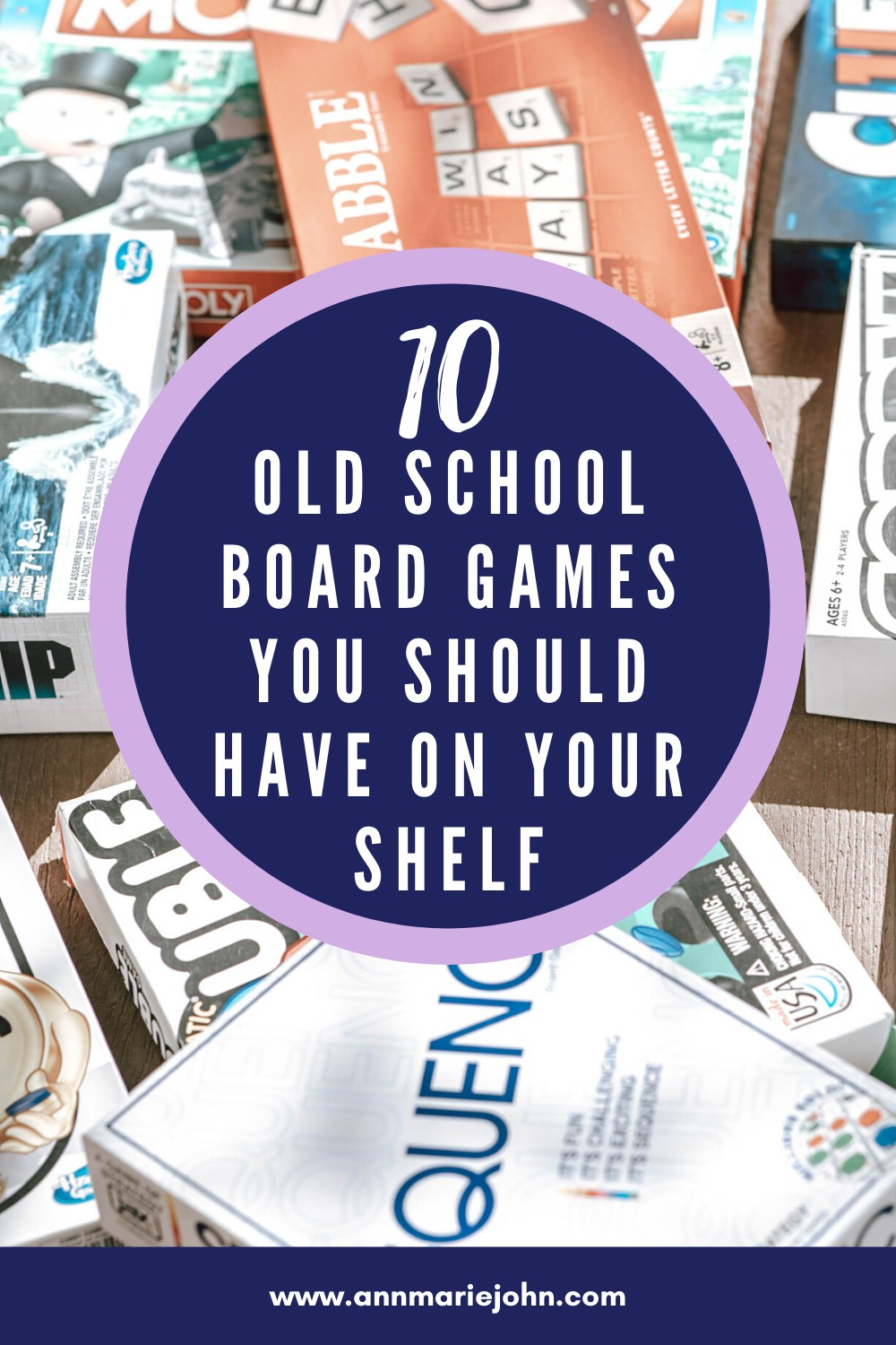 Old School Board Games Pinterest Image