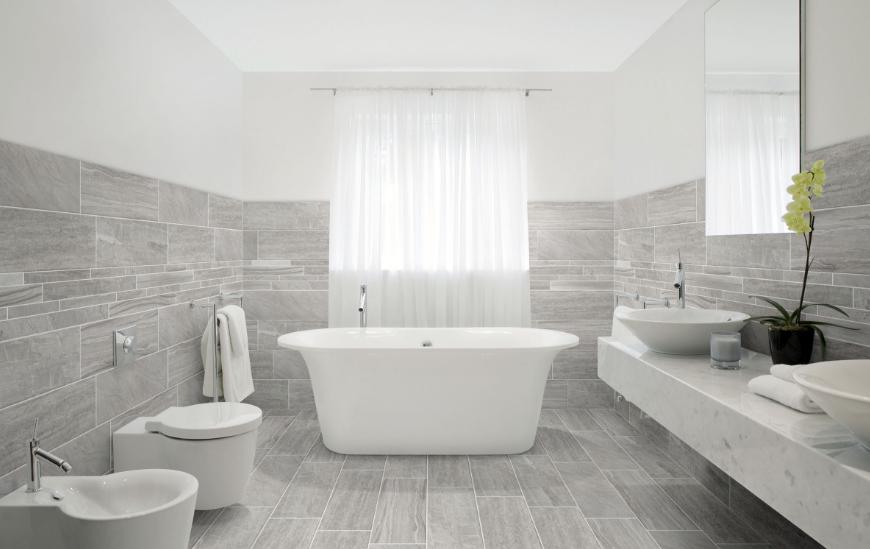 Motif Keramik dinding kamar mandi minimalis mewah terbaru