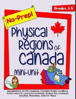 https://www.teacherspayteachers.com/Product/No-Prep-Physical-Regions-of-Canada-Mini-Unit-for-Grades-3-5-2272758