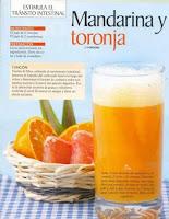 Jugos saludables mandarina y toronja