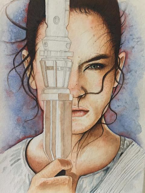 Rey of Force Awakens Painting Photo