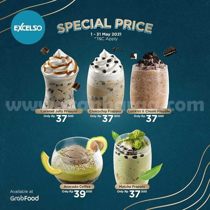 Excelso Coffee Promo Special Price via GRABFOOD