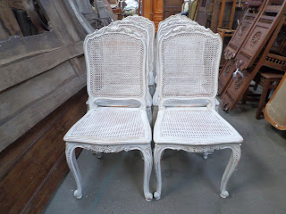 Wholesale French Antiques Dining Chairs Louis XV Painted