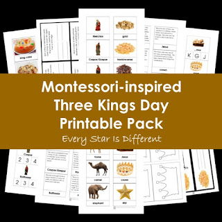 Montessori-inspired Three Kings Day Printable Pack