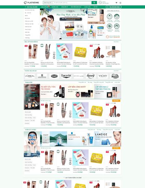 Template blogspot bán hàng mỹ phẩm cao cấp