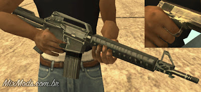 gta sa mod original weapons fix position posição segurar