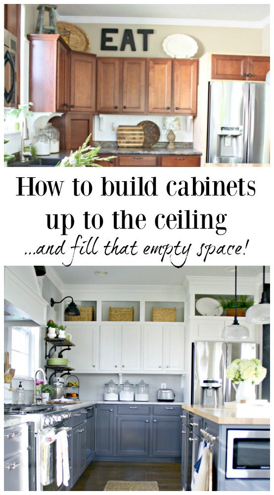 Building Cabinets Up To The Ceiling Thrifty Decor Chick