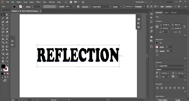 Text Reflection Effect in Adobe Illustrator