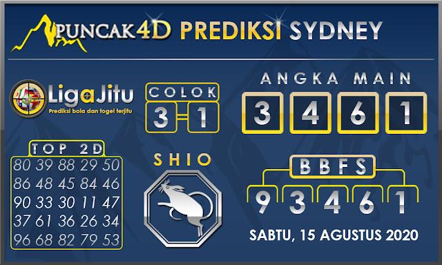 PREDIKSI TOGEL SYDNEY PUNCAK4D 15 AGUSTUS 2020