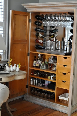 Armoire Bar From House Beautiful