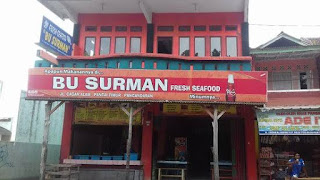 Rumah makan seafood Bu surman Pangandaran