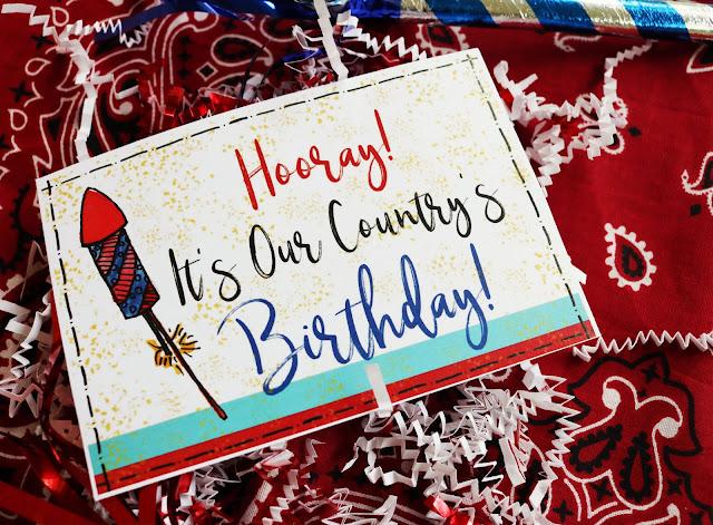 Fourth July Celebration Favor Bag Free Printable