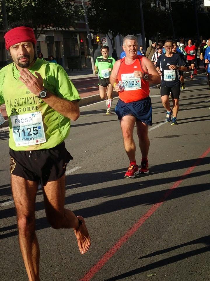 Foto de Emilio Saez, Maratón de Castellón 2014
