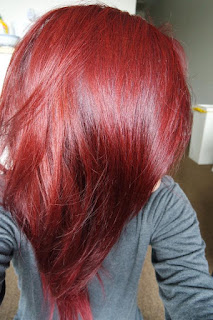 shwarzkopf brilliance luminance hair dye red passion after shot
