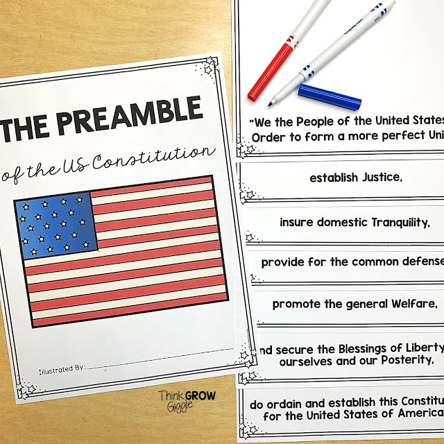 constitution day preamble activity elementary