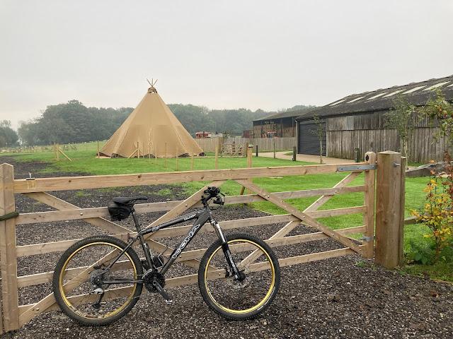American Indian teepee at Botley